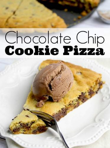 Giant Chocolate Chip Cookie Pizza Recipe Happy Hooligans