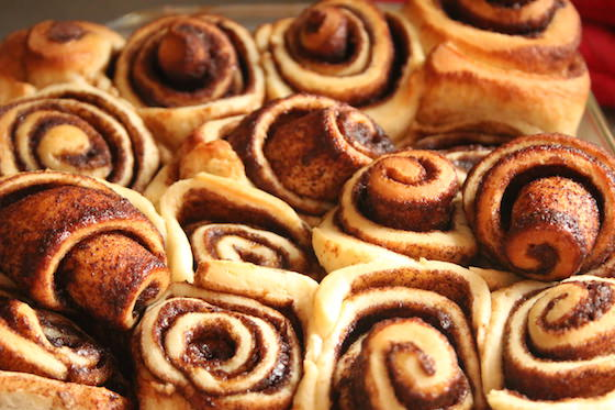 baked homemade bread machine cinnamon rolls