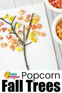 Popcorn Fall Tree Craft for Preschoolers - Happy Hooligans