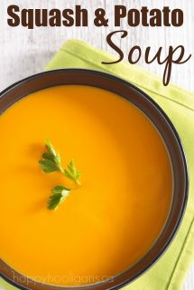 Butternut Squash and Potato Soup - Happy Hooligans