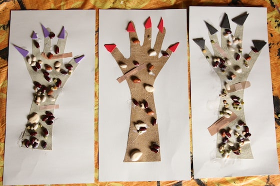 3 Monster Hands toddler craft