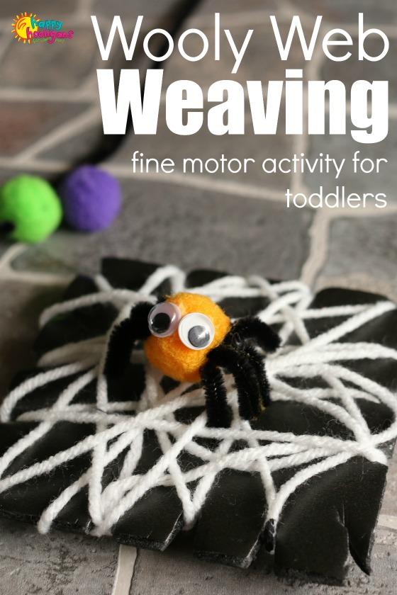 Pom Pom Spiders Wooly Web Weaving