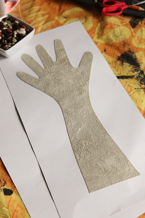 childs traced hand for monster craft