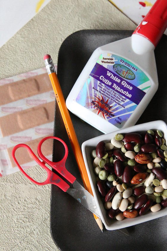 supplies for monster handprint craft