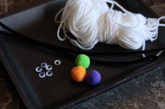 supplies spider web weaving activity