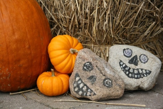 Painted Halloween Rocks