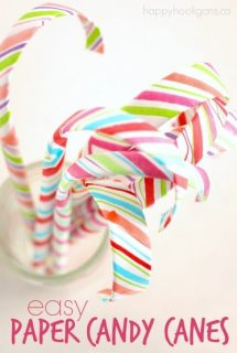 Easy Paper Candy Canes - Happy Hooligans