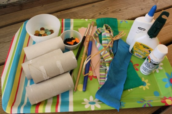 supplies for toilet roll snowman craft