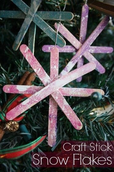 Craft Stick Snowflakes for Toddlers and Preschoolers to Make - Happy Hooligans