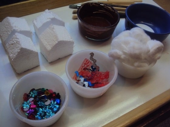 supplies for gingerbread house ornaments