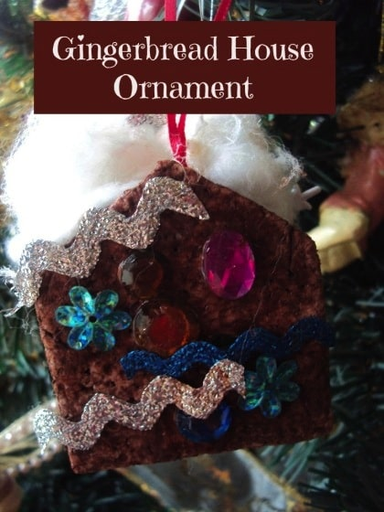 gingerbread house christmas tree ornaments