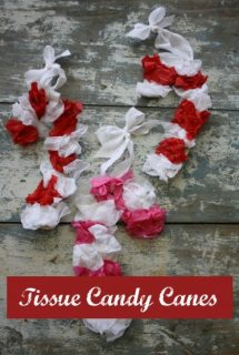 tissue paper candy canes