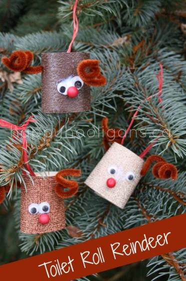 toilet roll reindeer craft for preschoolers
