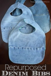 How to Make Baby Bibs from Old Jeans and Tees - Happy Hooligans