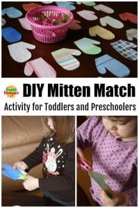 Mitten Match Activity for Preschoolers