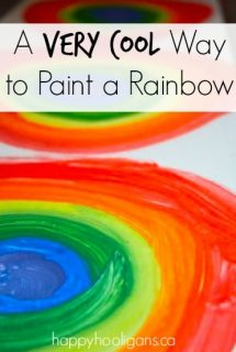 cool way to paint a rainbow