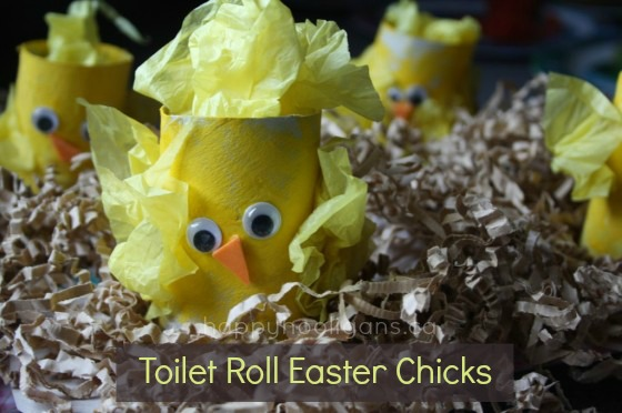 toilet roll easter chicks