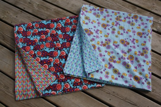 homemade reversible receiving blankets