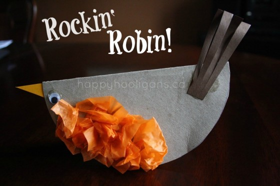 rockin' robin craft for preschoolers