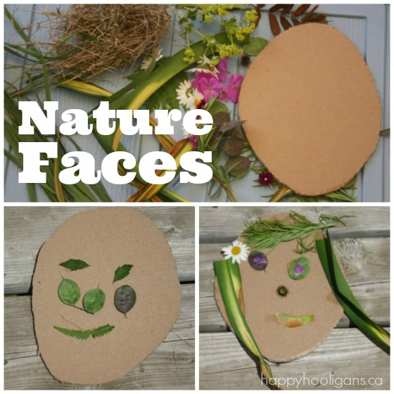 face art made with flowers and grass square image