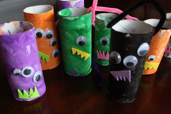 toilet roll monsters for monster mobile