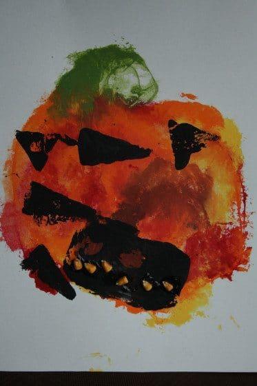 pumpkin art block stamping