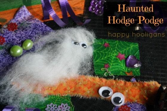 haunted hodge-podge - halloween art collage