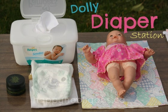 Doll Diaper Station Pretend Play Idea for Toddlers and Preschoolers