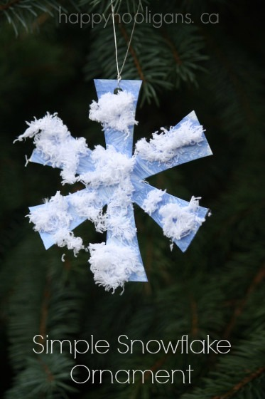 Simple Snowflake Ornament - Happy Hooligans