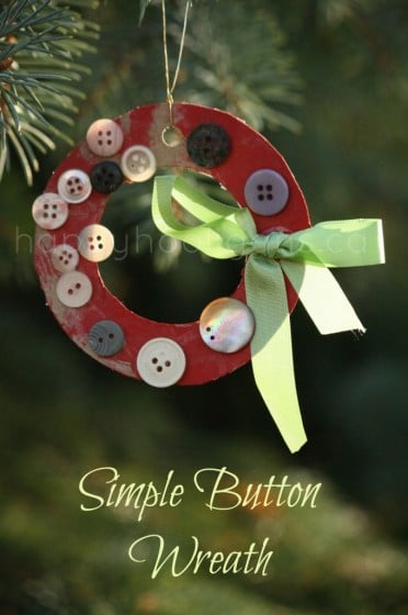 simple button wreath