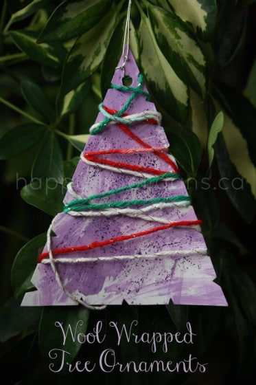 wool wrapped christmas tree ornament - happy hooligans