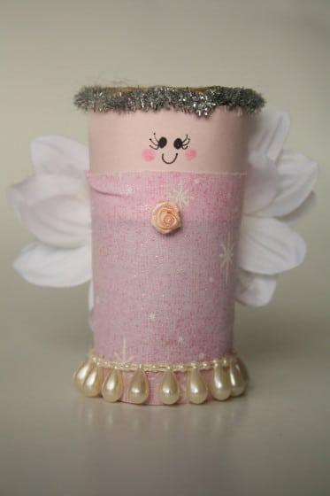 toilet roll angel for homemade nativity set