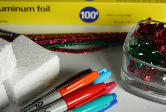 foil wrapped ornaments supplies
