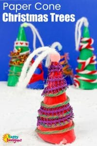 Paper Cone Christmas Tree Ornaments