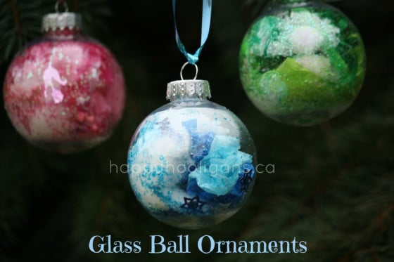 coloured glass ball ornaments - cover pic