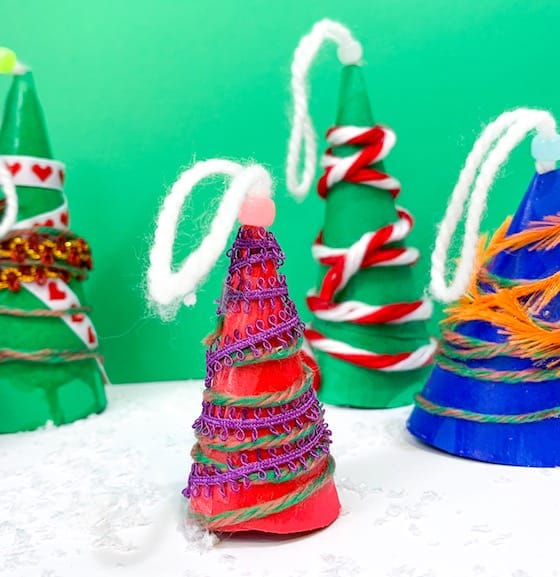 paper cone tree ornaments