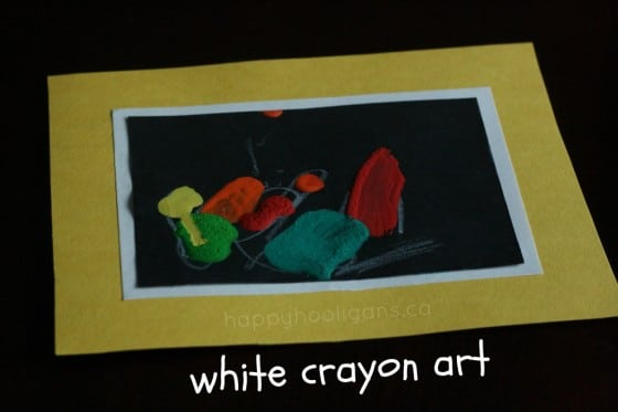 art with a white crayon cover photo