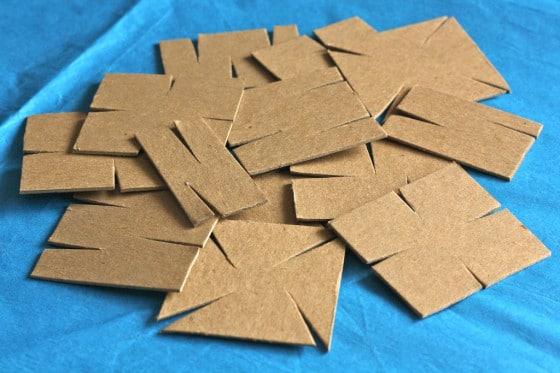 homemade cardboard construction set pieces