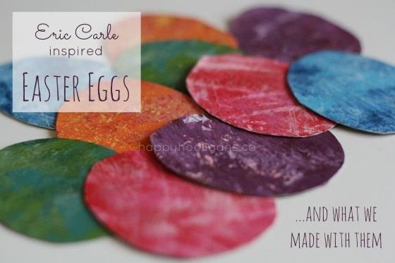 eric carle inspired DIY Napkin Rings for easter