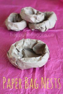 paper bag nests - happy hooligans