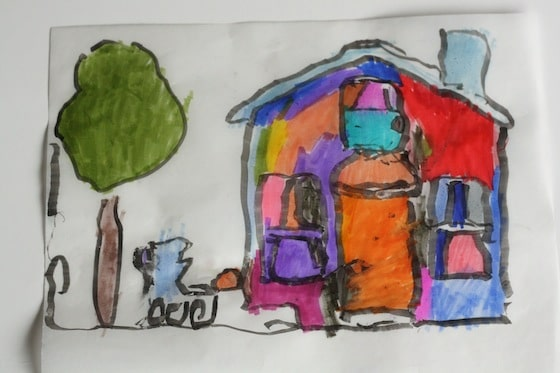 drawing activity for toddlers and preschoolers with tracing paper