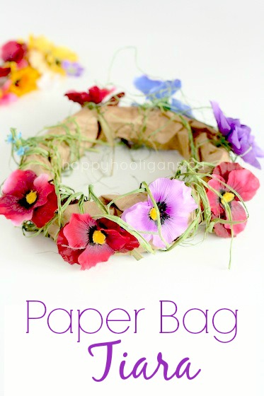 paper bag tiara for toddlers and preschoolers