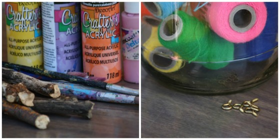 supplies for homemade rainbow wind chimes