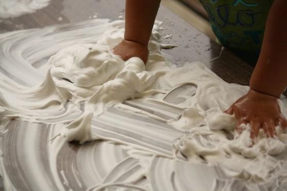 shaving cream magna doodle sensory play