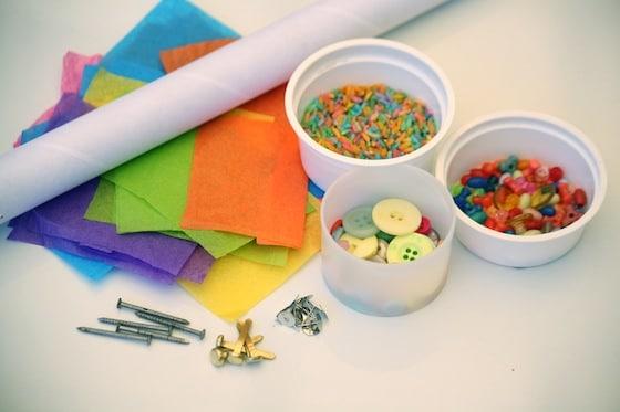 supplies for making rain sticks