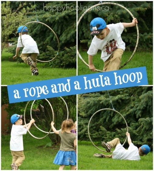 rope and hula hoop activity for gross motor development