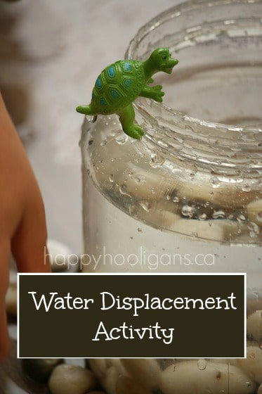 water displacement science activity for kids