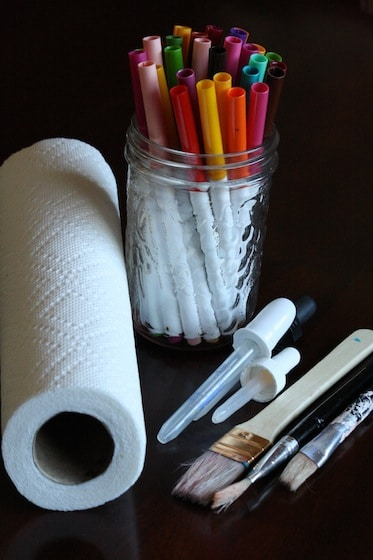 supplies for making marker and paper towel art