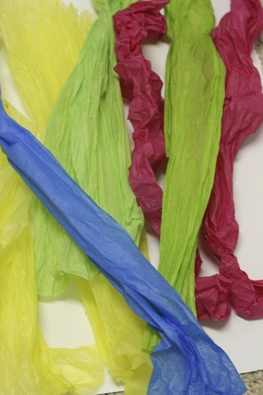 tissue paper icing for birthday cake craft
