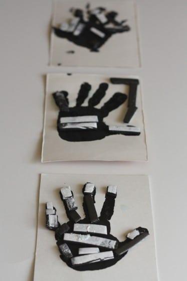3 skeleton crafts for kids